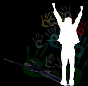 joe arms raised